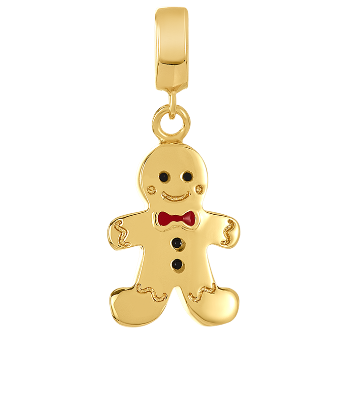 Gold gingerman charm for DBW interchangeable charm bracelets.