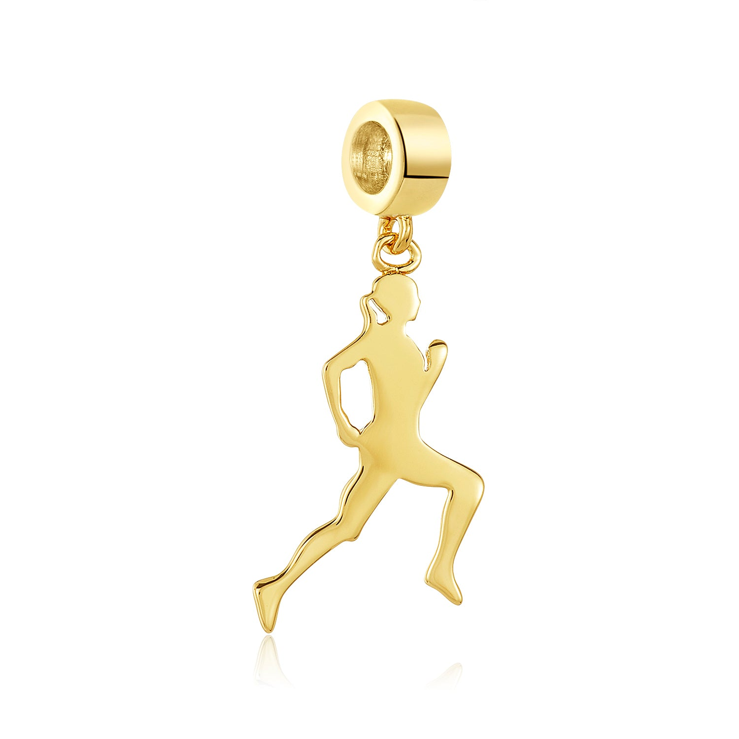 Golden Runner Charm