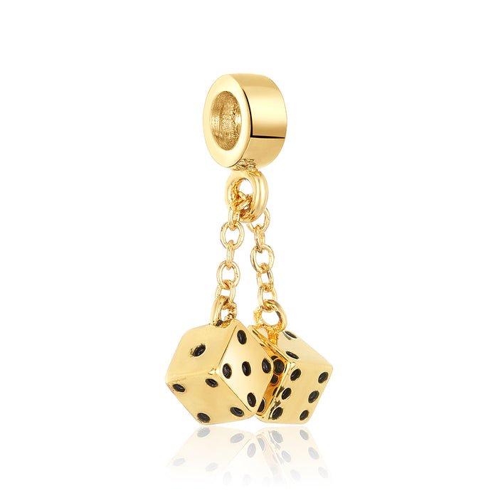 Golden Dice Charm