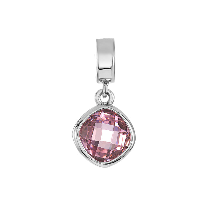 Pink CZ Shimmer Charm