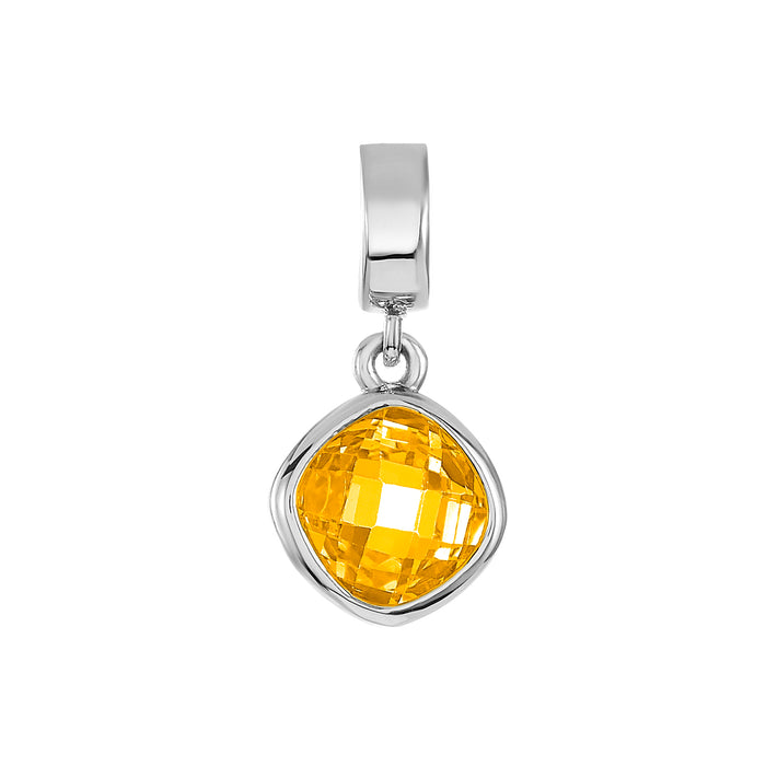 Yellow CZ Shimmer Charm