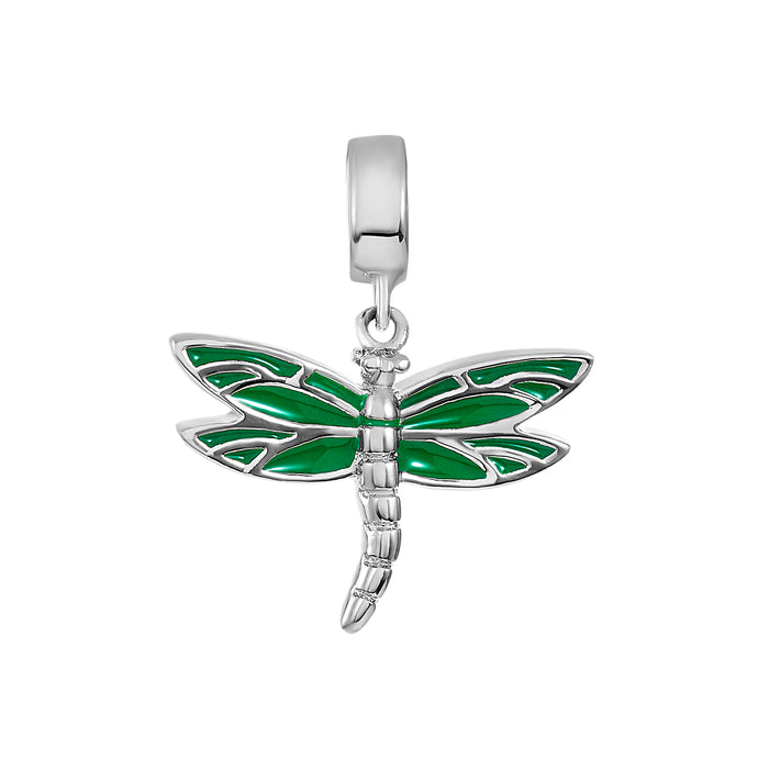 Green Dragonfly Charm