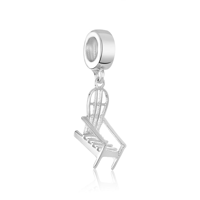 Silver rocking chair charm for use with DBW interchangeable bracelets.