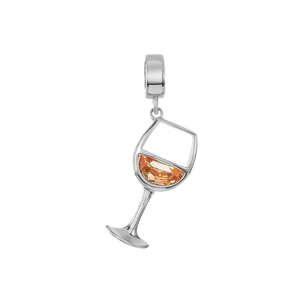 White Wine Glass Charm