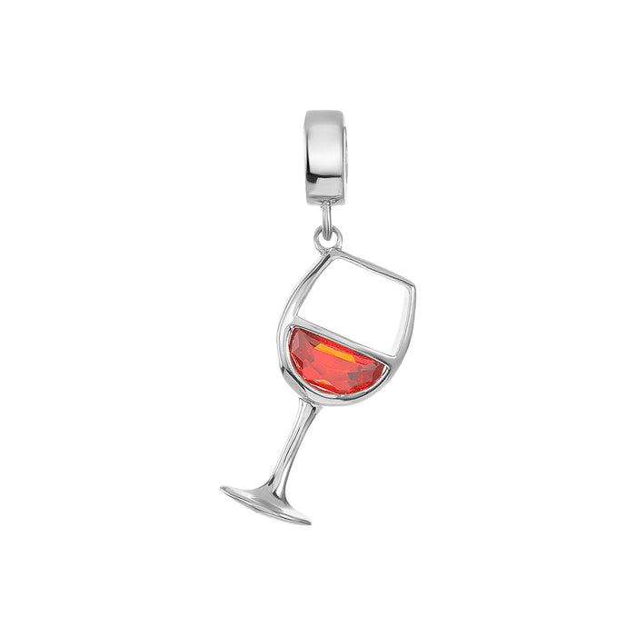 Red Wine Glass Charm
