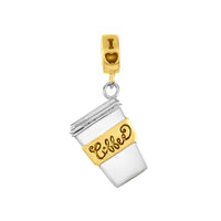 Two-Tone Coffee Charm
