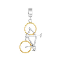 Two Tone Bicycle Charm