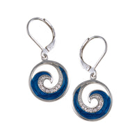 Blue Wave Earring