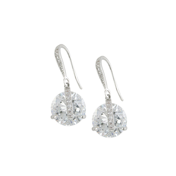 Solitaire Drop Wire Earring