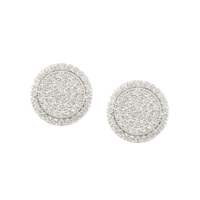 Pave' Button Earring