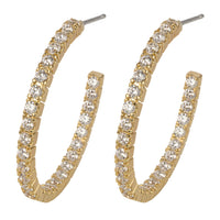 Pave' Hoop Earrings