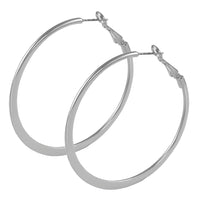 30mm Rhodium Hoop