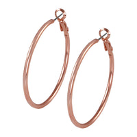 30mm Rose gold hoop earring