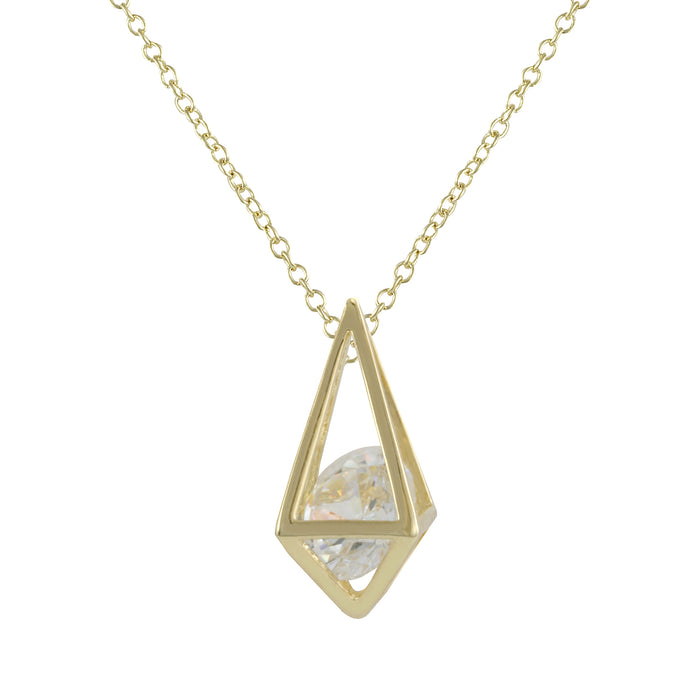 Diamond Cage Necklace