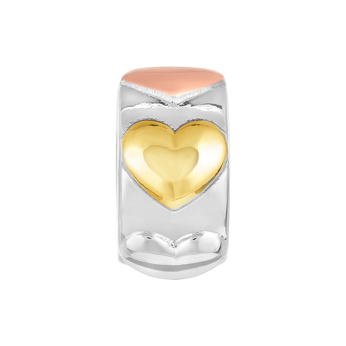 Three Tone Heart Spacer