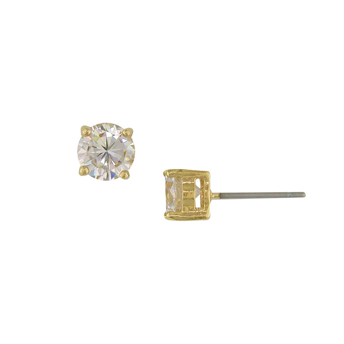 2 ct tw CZ stud earrings