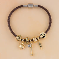 Wisdom and Direction Leather Bracelet