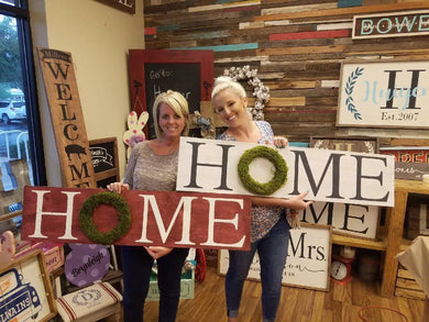 HOME Wreath Signs