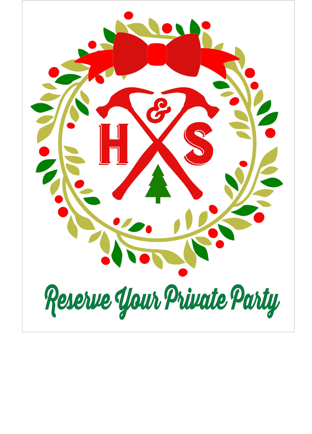 12/18/19 (6:30pm) Reserve Your Private Party Now!