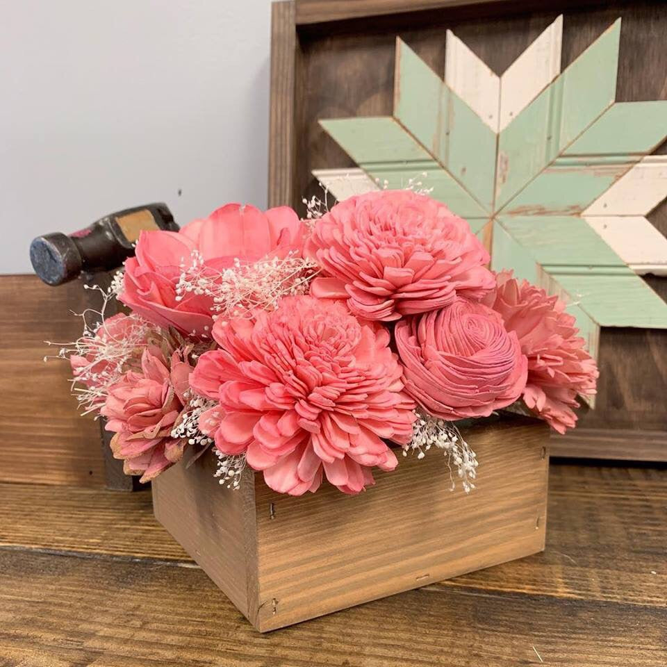 05/05/19 (2:00pm) Wood Flower Workshop