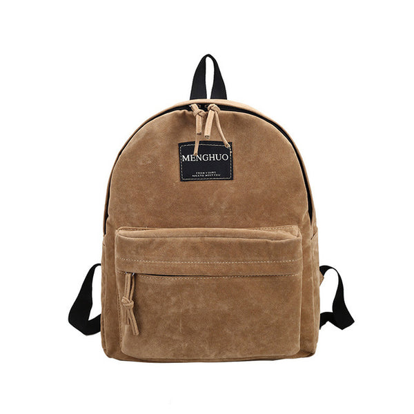 Women Backpack Preppy Suede Backpacks Girls School Bags - BabyBus Stop