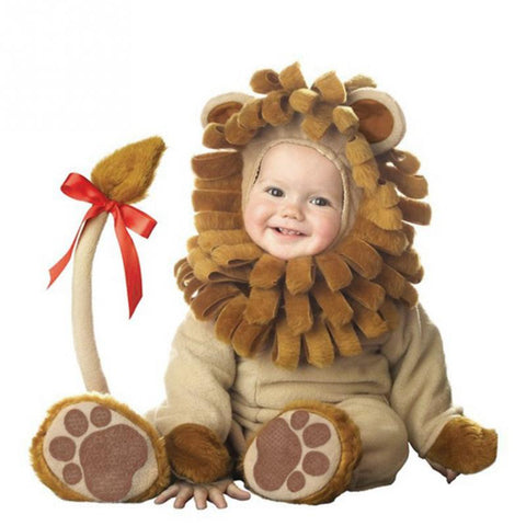 Halloween Costume Infant Baby Girls Lion Rompers Cosplay Newborn Toddlers Clothes - BabyBus Stop
