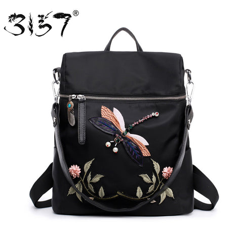 3157 Fashion Backpack Women Nylon School Bags for Teenage - BabyBus Stop