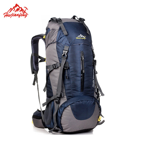 Waterproof Travel Hiking Backpack 50L, Sports Bag For Women Men, - BabyBus Stop
