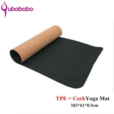 5MM Non-slip TPE+Cork Brand Yoga Mats For Fitness Natural Pilates Gymnastics - BabyBus Stop