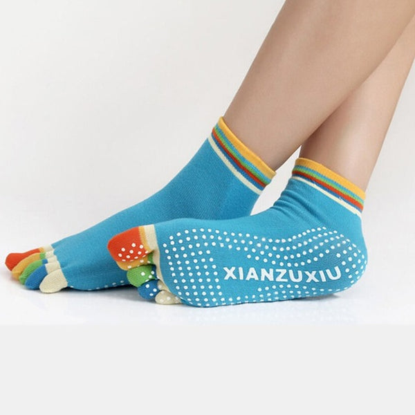 Rainbow Color  Fitness Socks - BabyBus Stop