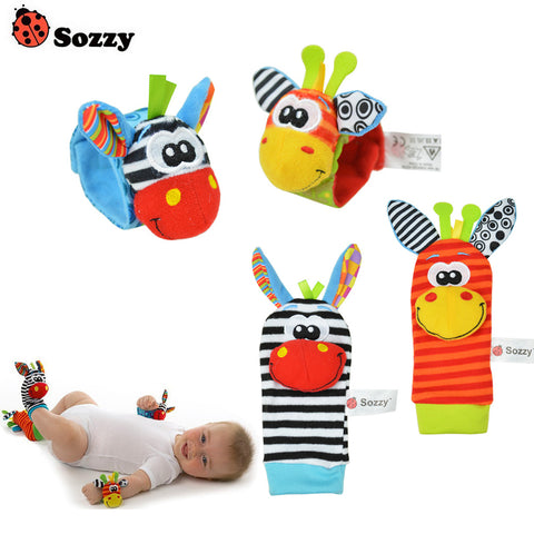 Baby rattle toy and Foot Socks - BabyBus Stop