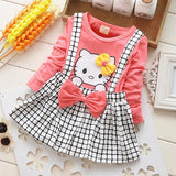Spring  Cat Baby Girl Dress - BabyBus Stop