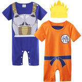 Baby Boys Romper Dragon Ball Z Halloween Costume Infant Vegeta - BabyBus Stop