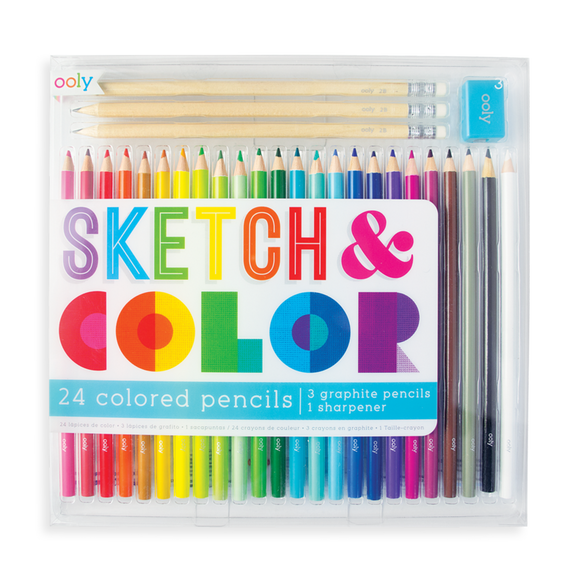 Sketch & Color 28 Colored Pencil Set