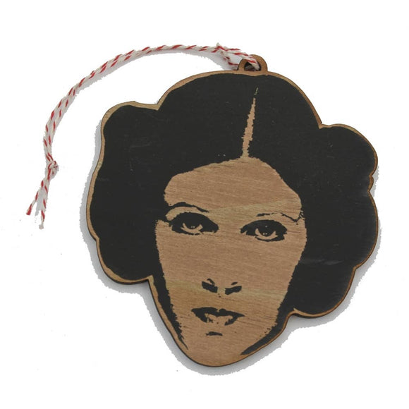 Carrie Fisher Wooden Ornament