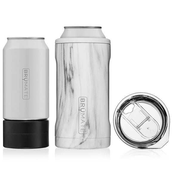 Hopsulator Trio 3-in-1 Can Cooler- Carrara Marble