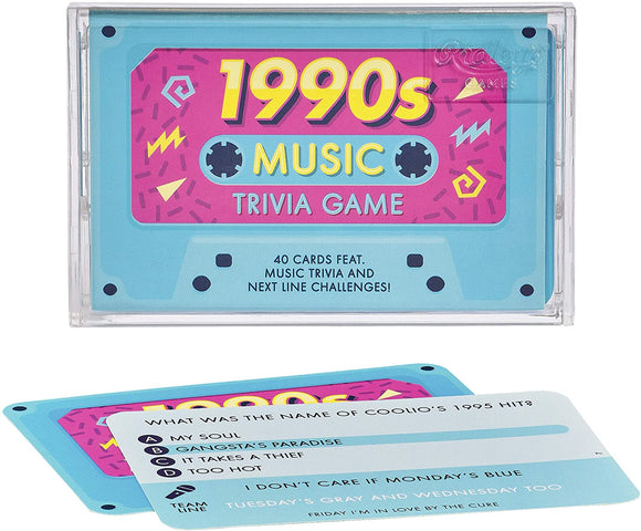 1990'S Cassette Tape Song & Music Trivia Quiz Guess Game