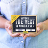 Best Teacher Ever Fill-In-The-Blank Gift Journal