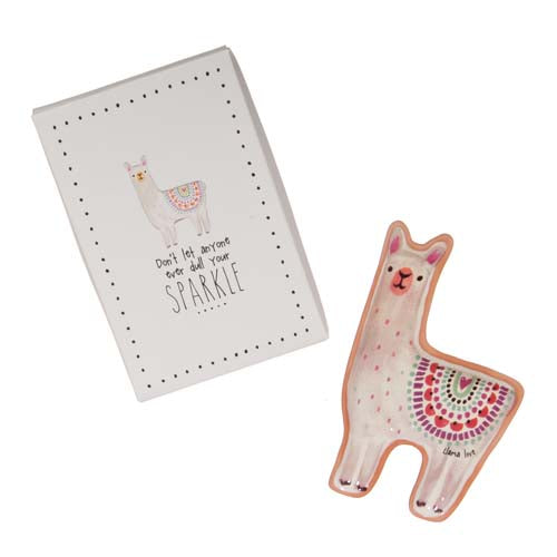 Don't Dull Your Sparkle Llama Dish