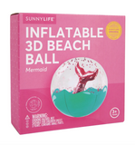 Inflatable 3D Beach Ball Mermaid