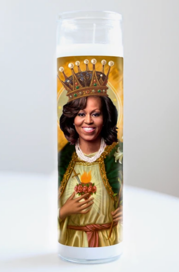 Michelle Obama Saint Candle
