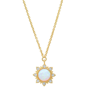 Opal Burst Necklace
