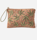 Just A Weed Large Velvet Pouch