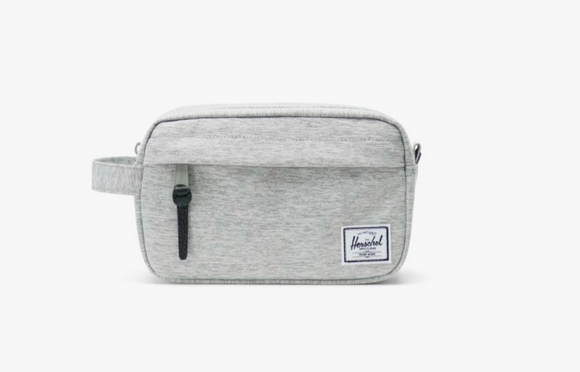 Chapter Carry On Travel Kit- Light Grey Crosshatch