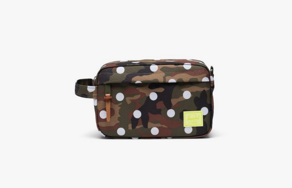 Chapter Carry On Travel Kit- Woodland Camo White Dot