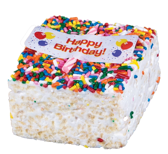 Rice Crispy Treat- Happy Birthday Candle