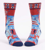 Crazy Cat Dude Men's Crew Socks