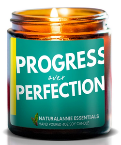 Progress Over Perfection 4 oz Soy Candle- Lavender