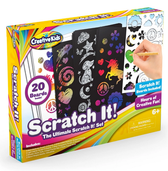 Scratch Paper Art & Crafts Kit
