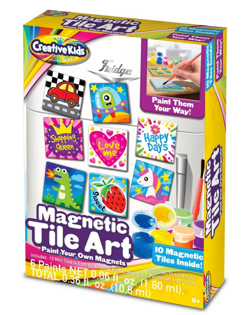 Magnetic Mini Tile Art- Make Your Own Paint Art Craft Set